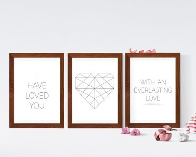 Minimalist Heart with Love Scripture | Digital Download