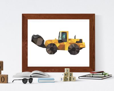 Construction Vehicle Loaded Poster Boys Room | Digital Download