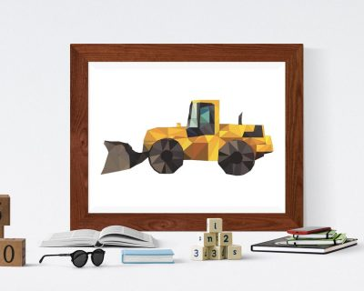 Construction Vehicle Plain Poster Boys Room | Digital Download