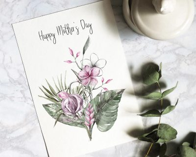 Mother's Day Printable Card | Blank Inside | Instant Download