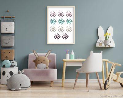Watercolor Numbers 0 – 10 Poster | Digital download | Nursery | Creche | Play Room | Kindergarten
