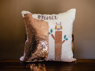 Custom Sequin Pillow for your little one's room decor