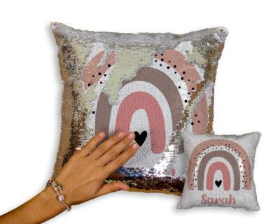 Custom Boho Rainbow Sequin Pillow | Nursery Decor | Little One's Room