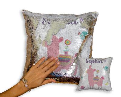 Custom Llama Sequin Pillow | Nursery Decor | Little One's Room