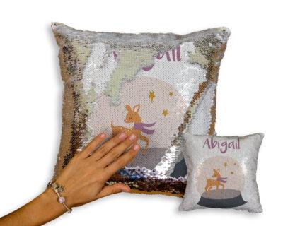 Little Deer Sequin Pillow | Nursery Decor | Little One's Room