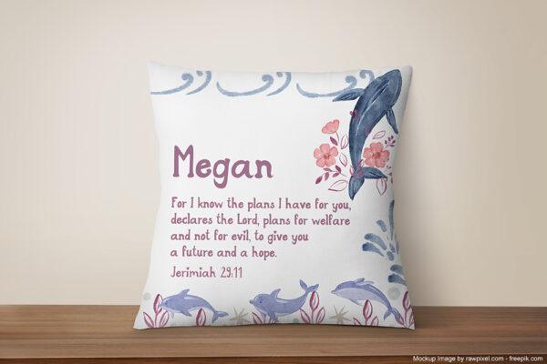 Girly-Nautical-printed-pillow-custom-origami-design2